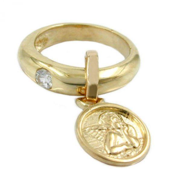 Taufring, Einhänger, Zirkonia, 9Kt GOLD