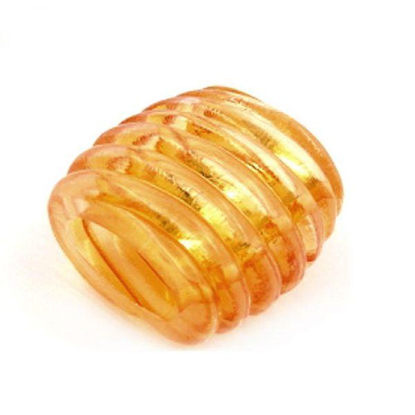Tuchperle, Spirale orange-transparent