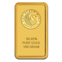 100g Goldbarren - Perth Mint