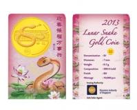 Singapur - 1 SGD Lunar Jahr der Schlange - Goldmünze PP
