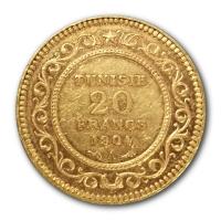 Tunesien - 20 Francs - 5,8g Goldmünze